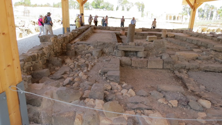 The synagogue in Migdal, also called Magdala. Jesus was here for certain for the Scripture tells us he visited ALL the synagogues of the Galilee.