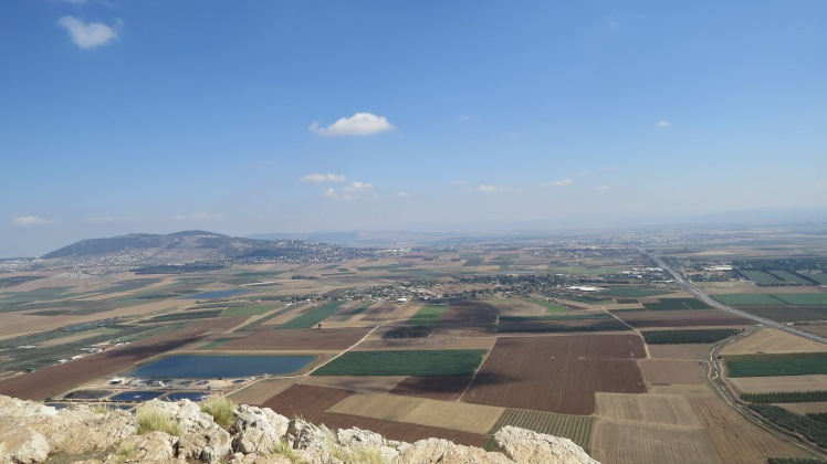 This is the Jezreel Valley viewed from the town of Nazareth. Over looking the town of Meggido. This valley is sometimes referred to as Armageddon. This was Jesus' playground!