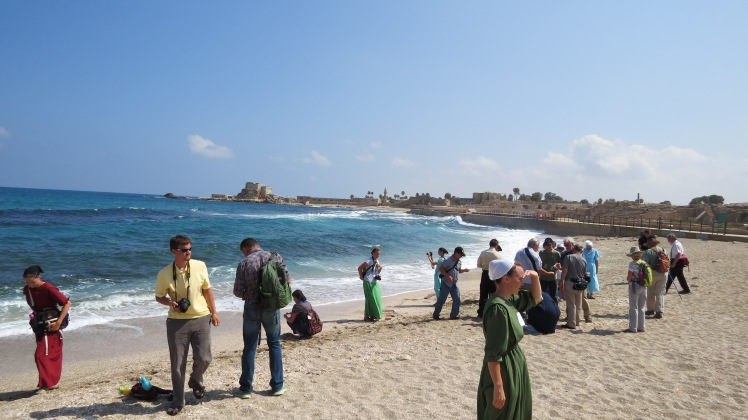 Caesarea on the coast of the Mediterranean Sea. Remember how the wicked are like the roaring of the sea. Never silent and always in tumult.
