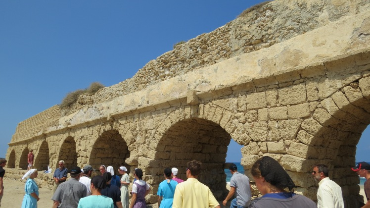 The 7 mile aqueduct bringing fresh water into Caesarea. Again the magnificence and genius of Herod.