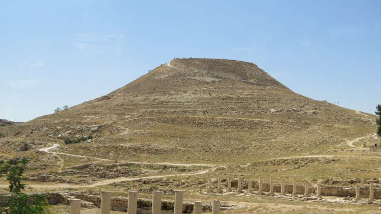 Side view of the Herodian. Herod built the top half of this mountain