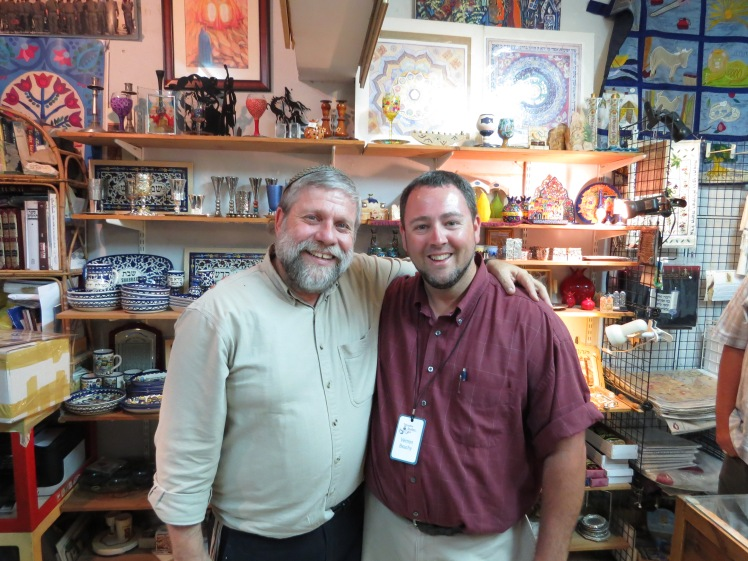 Tonight we went for a walk and shopping experience! This kind Orthodox Jew opened his heart and shop to us. He was very kind and hospitable!