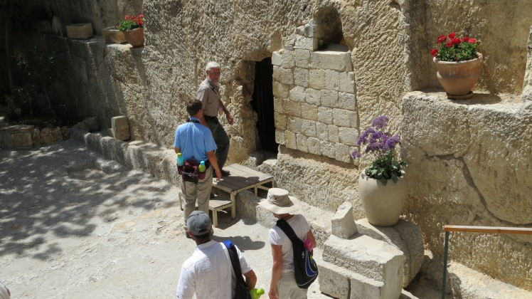 The Garden Tomb where they think Jesus was laid.