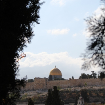 the Eastern gate and dome of the rock