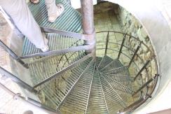 descending to Hezekiah's tunnel