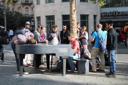 singing on the street